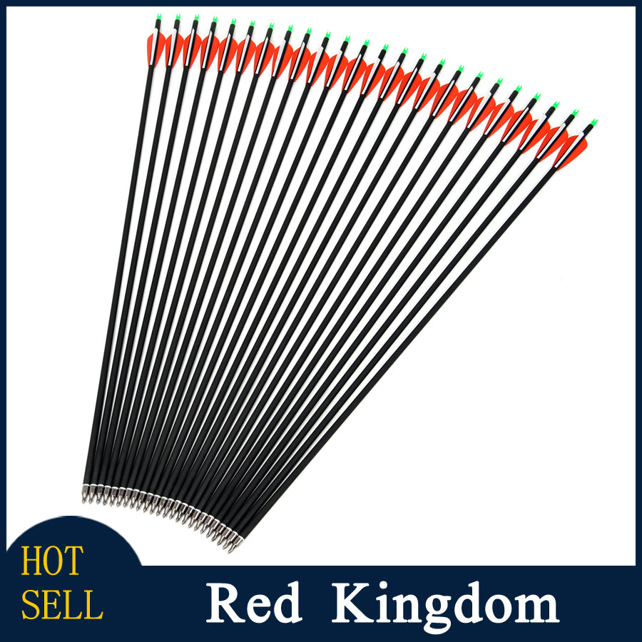 "30 Pcs 30"" Carbon Arrow Spine 500 For Recurve And Compound Bow"