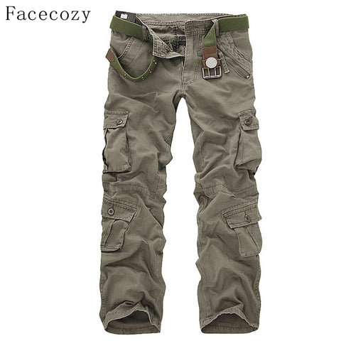 Men Tactical Military Cargo Pants Outdoor Multi-pockets 29-40 7 Colors