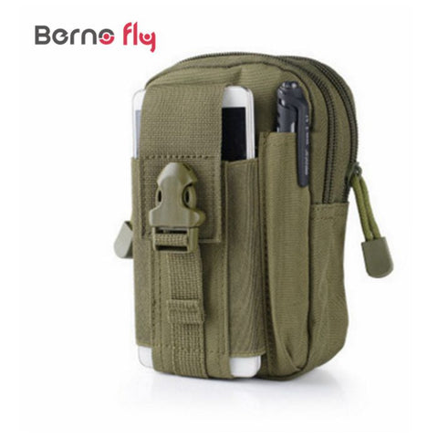 Men Molle Waterproof Nylon Mobile Phone Wallet Pouch Bag