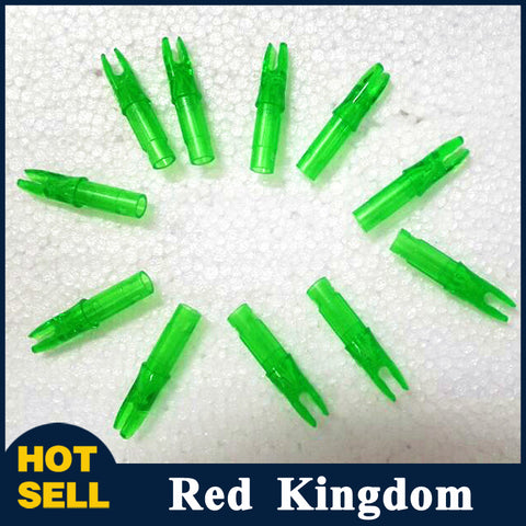 50 pcs Green Arrow Nock For Shaft ID 6.2mm OD 7.8mm