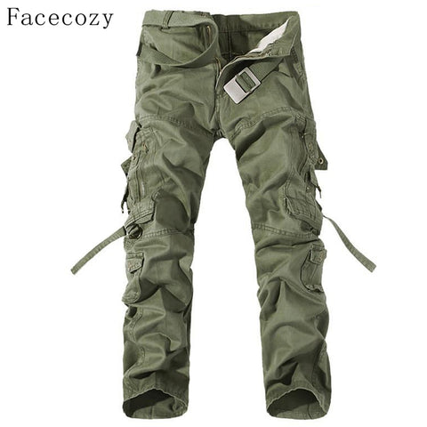 Men Autumn Military Outdoor Pant Windproof Loose Style Hunting Sports Trouser Plus Size