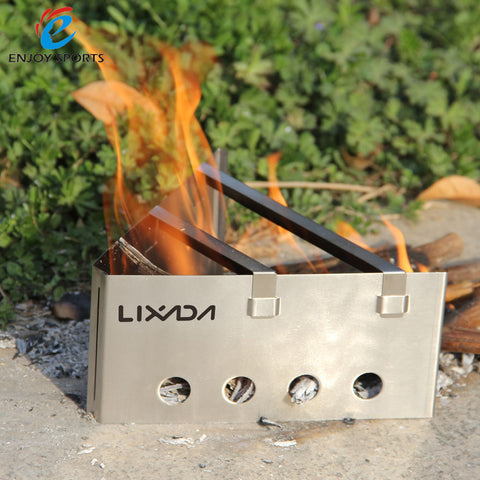 Compact Lightweight Wood Stove Portable Stainless Steel Camping Stove