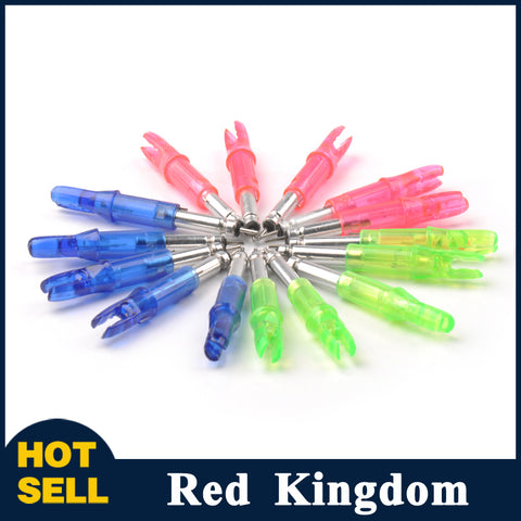 5 Pcs LED Lighted Arrow Nock For Shaft ID 6.2 mm