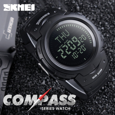 Men's Military Sports Compass Outdoor Watch Digital LED Electronic Chronograph
