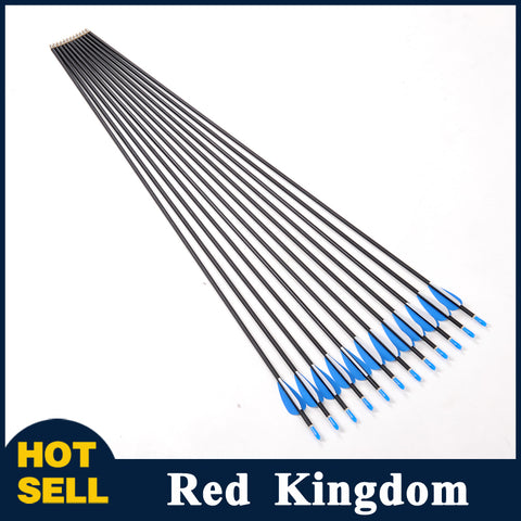 "12 Pcs 32"" Carbon Arrow Spine 1200 OD 5.65 mm ID 4.2 mm For Compound And Recurve Bow"