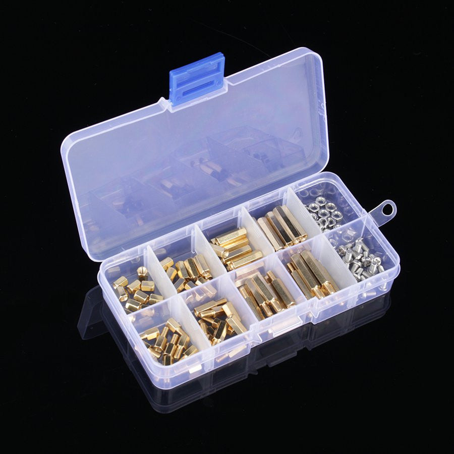 120 Pcs M3 Male Female Brass Standoff Spacer PCB Board Hex Screws Nut Assortment