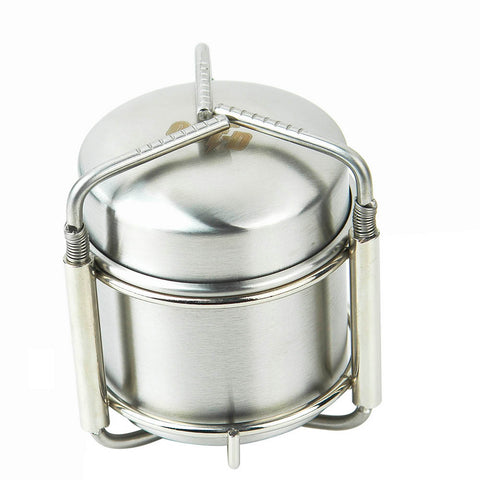 Outdoor Alcohol Stove Stainless Steel Mini Ultra-light Furnace with Stand