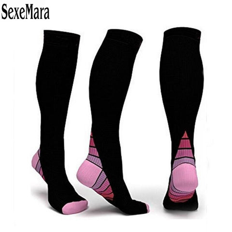 Women Compression Socks Comfortable Relief Soft Miracle Leg Support Stretch Breathable Anti-Fatigue Sock