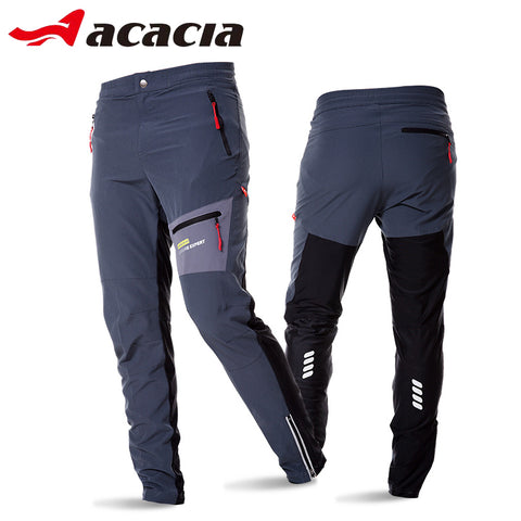 Men's Breathable Soft Bicycle Safety Reflective Elastic Waist Pants