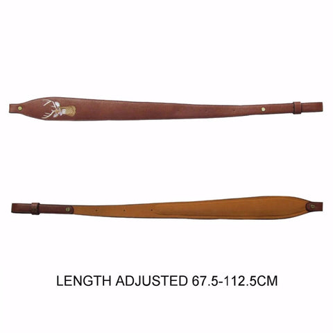 "Leather Rifle Shotgun Sling Shoulder Strap Adjusted 67.5-112.5cm 26.5""-44"""
