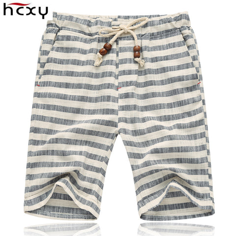 Men's Elastic Shorts Men Loose Casual Beach Cotton Shorts