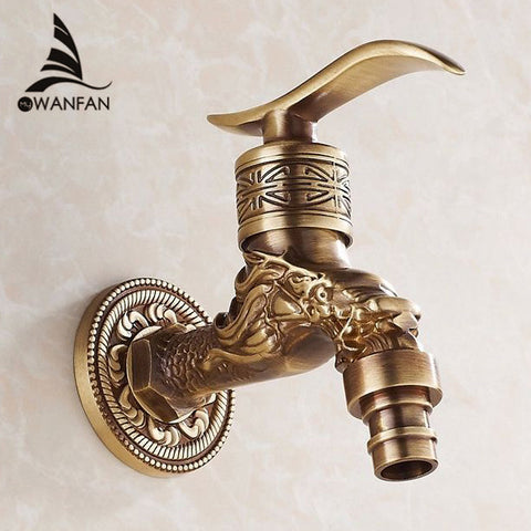 Antique Bronze Bibcock Cold Water Washing Machine Garden Faucet HJ-7665F