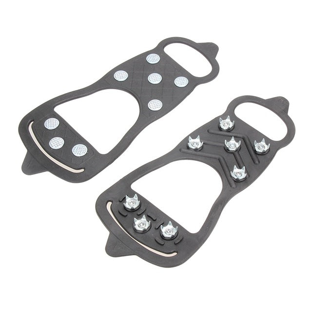 1 Pair Ice Snow Shoes Spike Grips 8 Studs Anti-Skid Ice Snow Shoes