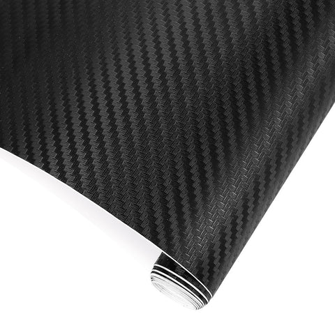 50cm Wide 3D Carbon Fiber Vinyl Film Car Motorcycle Stickers Waterproof Film Decal