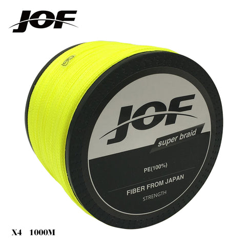 1000m 20LB - 100LB PE Multifilament 4 Strands Braid Line Ocean Fishing Super Strong Colorful