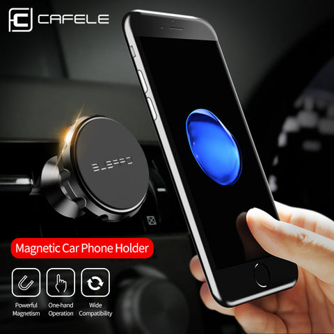 Universal Magnetic Cellphone Holder 360 Degree Rotation Aluminium Alloy Car GPS Magnet Mount Phone Holder
