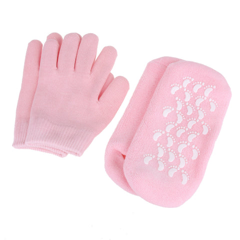 SPA Gel Socks & Gloves Moisturizing Whitening Exfoliating Treatment Smooth Hands Feet