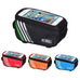 "1.5L 5.5"" Waterproof Touch Screen Bicycle Bags Cycling Bike Front Frame Bag Tube Pouch"