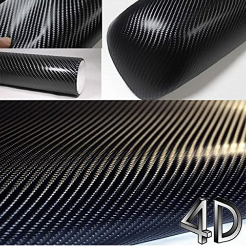 200mmX1520mm Waterproof Car 4D 3M Carbon Fiber Vinyl Film Decal Sticker