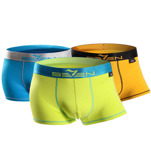 3 Pcs High Elastic Men's Underwear Boxer Sexy Comfortable Shorts 110F08060