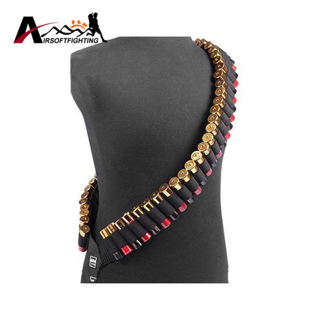 50 Rounds Shotgun Shell Bandolier Belt 12 GA 20GA Ammo Carrier Adjustable 140x5cm