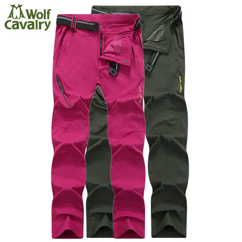 Women Men High Stretch Waterproof Quick Dry Hiking Pants Trousers Trekking Climbing Outdoor Pants AW006