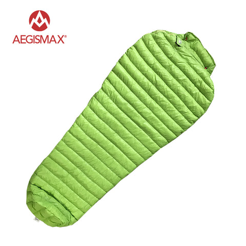 Camping Mummy Sleeping Bag Ultralight 95% Goose Down Three-Season 52-43 Degree F Fit 175-190cm Tall