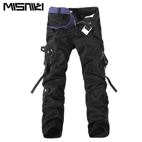 Mens Cargo Pants Outdoor Hiking Pocket Pants Size 28-42