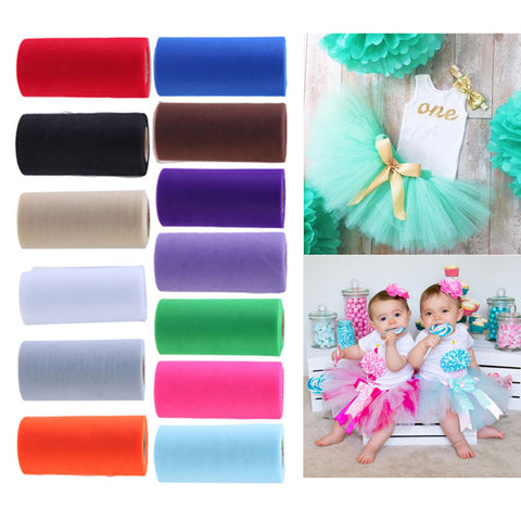 54 Colors Pick Wedding Tulle Roll 15cm Width x 22.5m Tulle Fabric Gift Wrapping Roll Dress Tulle