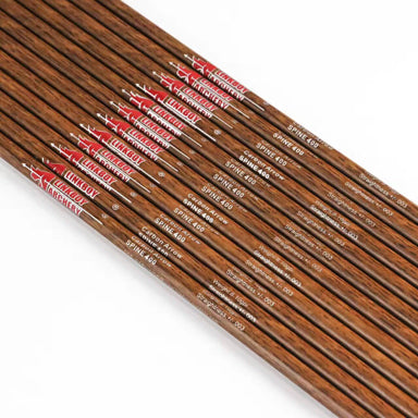 "12 Pcs 32"" Pure Carbon Arrow Shaft with Bamboo Pattern Spine 400/500/600 7.5 gpi for Compound Bow 20-50lbs"