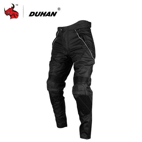 Men's Windproof Motorcycle Pants Trousers With Removable Protector Guards