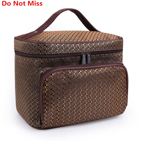 Women Cosmetic Makeup Bag Folding Travel Makeup Organizer Bag Waterproof