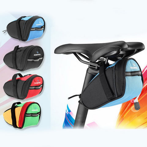 Bicycle Bag Waterproof Storage Saddle Bag Cycling MTB Seat Tail Rear Pouch 7x7.5x15 CM
