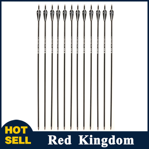 6/12/24 Pcs  28/30/32 Inches Carbon Arrow Diameter 7.8mm Spine 500 For Recurve Bow