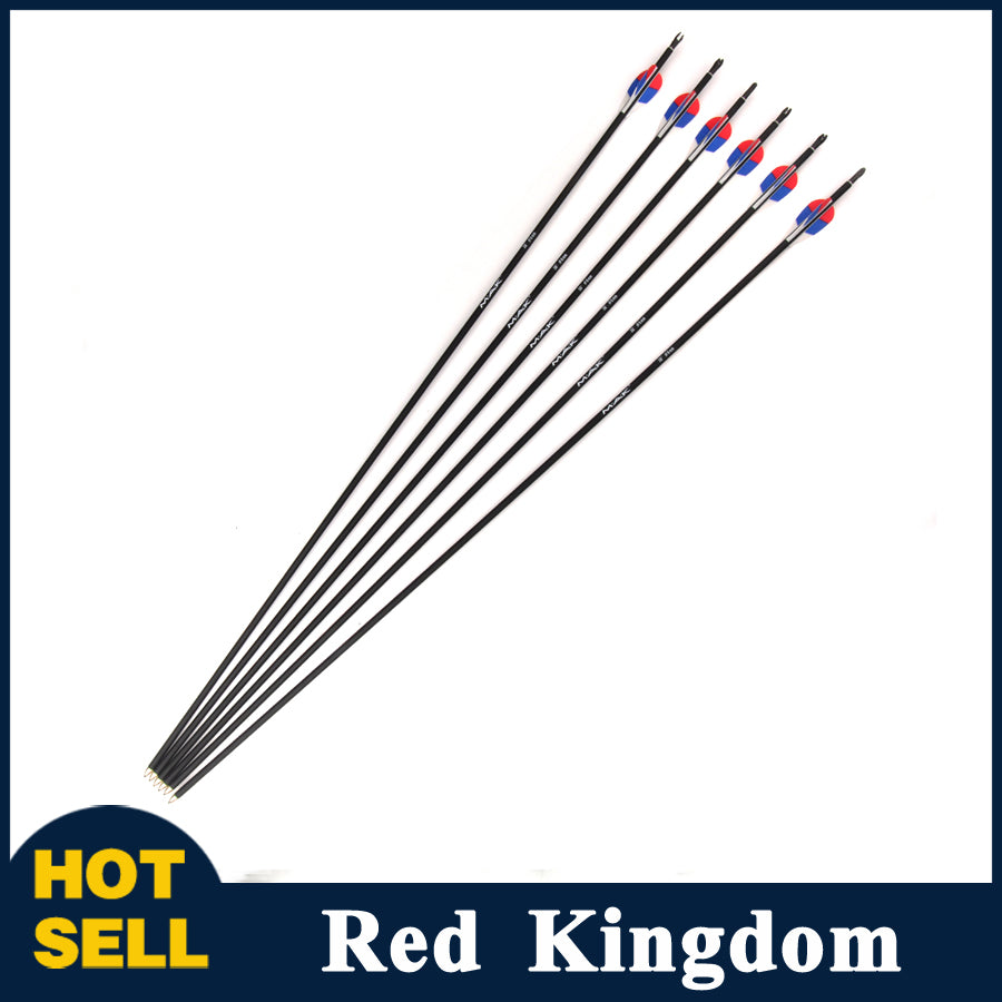 "6/12/24 Pcs 30"" Carbon Arrow Diameter 6mm Spine 1000 For Compound And Recurve Bow"
