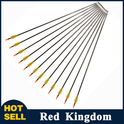 "6/12/24/36/48 Pcs 28"" Fiberglass Arrows For Compound And Recurve Bow For Children And Women Practice"