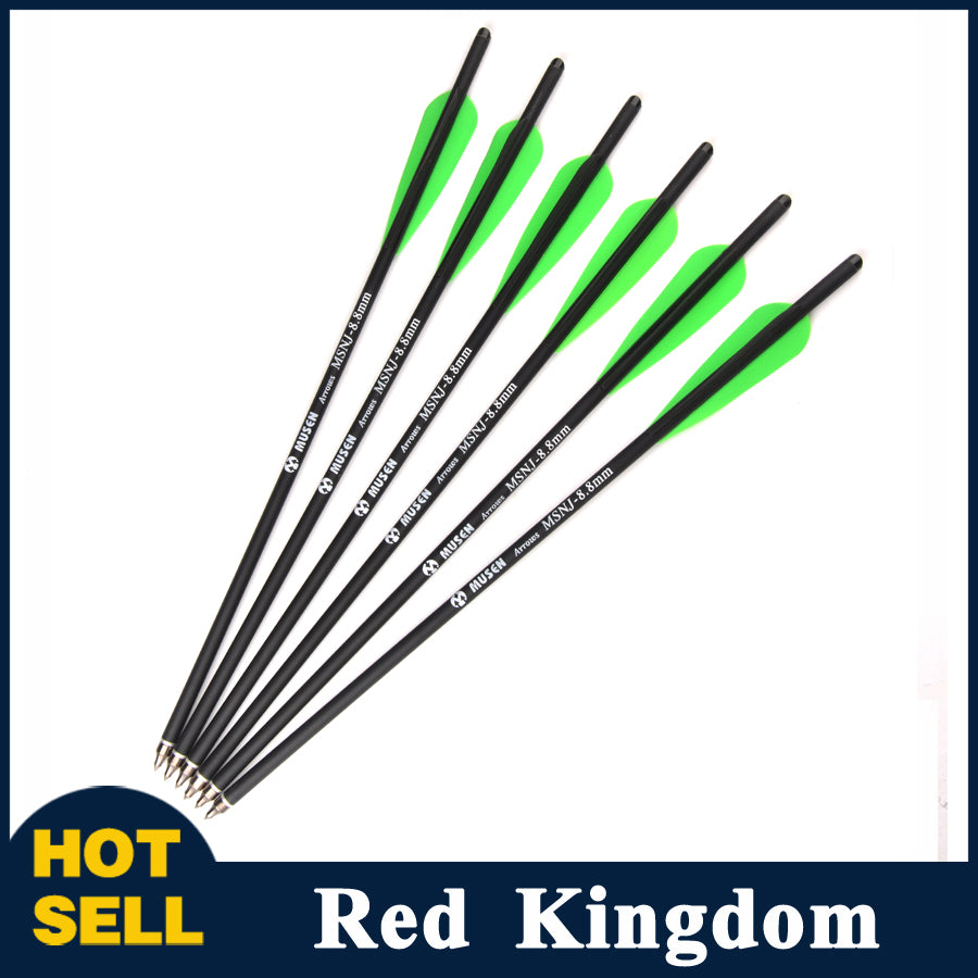 "12/24 pcs 17"" Carbon Arrow For Crossbow Replaceable 125 Grain Tip Point Diameter 8.8mm"