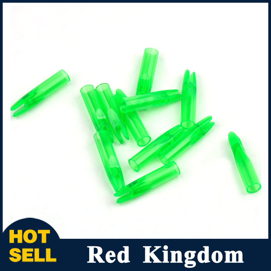 50 Pcs Outwear Arrow Nocks For Carbon Fiberglass Arrow Shaft Out Diameter 6mm