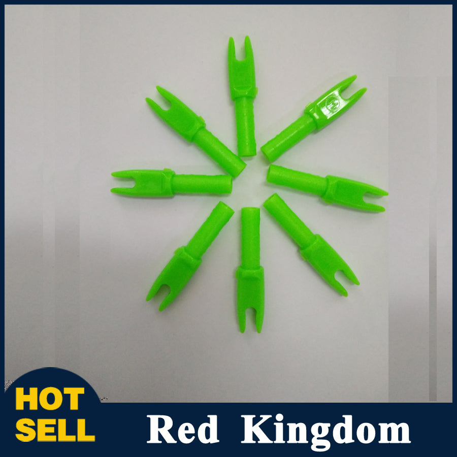50 pcs Green Arrow Nock Outer Diameter 4mm Inner Diameter 6.2mm