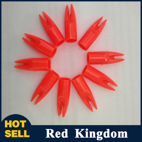50 pcs Orange Arrow Nocks For Shaft Outer Diameter 7mm