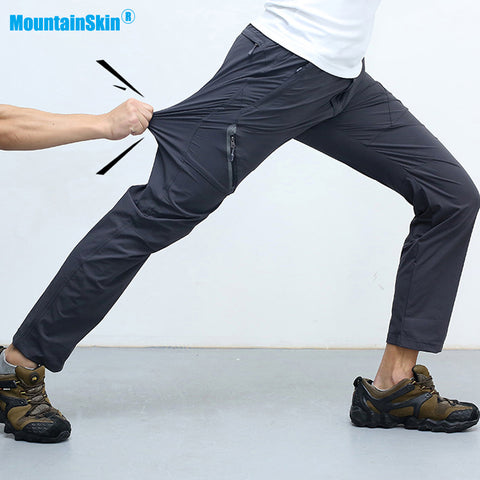 Men's Summer Quick Dry Softshell Pants Outdoor Elastic Camping Hiking Trekking Fishing Climbing Trousers Size M-8XL MA138