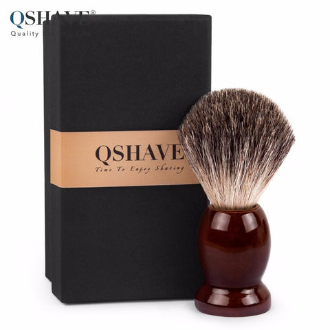 Pure Badger Hair Shaving Brush Wood Handle 9.9cm x 4.6cm