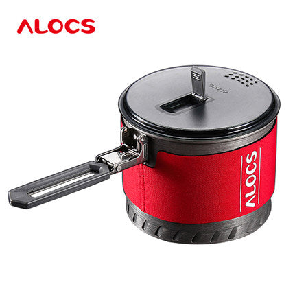 Camping Cookware 1.3L/2L Pot Heat Exchange With Bowl Cup
