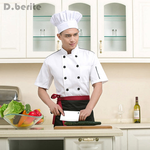 Restaurant Chef Uniform Short Sleeve Top