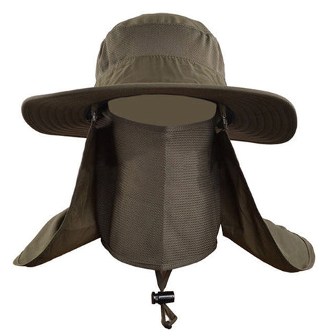 Men Women Wide Brim Bucket Hat Sun Block Quick Drying Full Face and Neck Cover