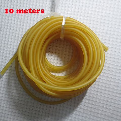10m Natural Latex Slingshots Rubber Tube OD 4.5mm Bow Rubber Band Catapult Elastic Parts Fitness Bungee Spearfishing