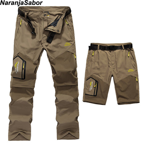 Men's Removable Quick Dry Casual Pants Thin Trousers Short Cargo L-5XL