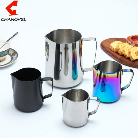 304 Stainless Steel Espresso Coffee Pitcher Craft Latte Milk Frothing Jug Measuring Cups
