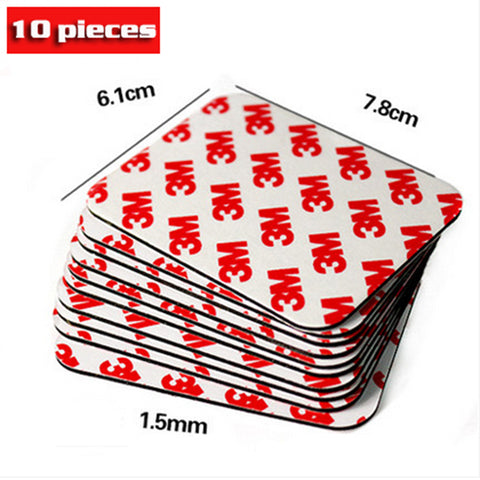 10 Pcs 3M Strong Double Sided Adhesive Acrylic Foam Tape Two Sides Mounting Sticky 78mmx61mmx1.5mm