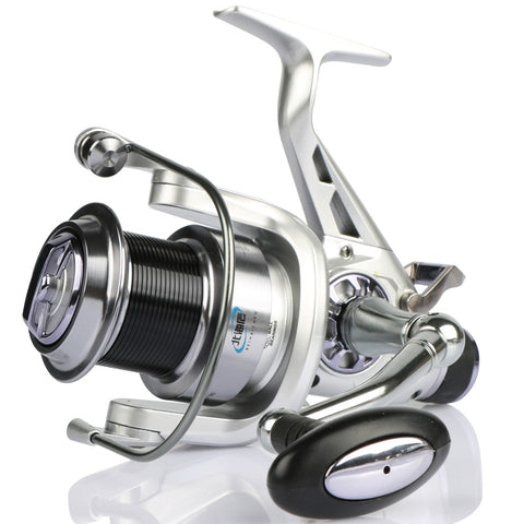 Sea Spinning Fishing Reel Long Casting Double Brakes System Metal Reel Size 5000 6000